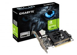 Gigabyte GV-N710D3-2GL NVIDIA, 2 GB, GeForce GT 710, DDR3-SDRAM, PCI Express 2.0, Cooling type Active, HDMI ports quantity 1, Me