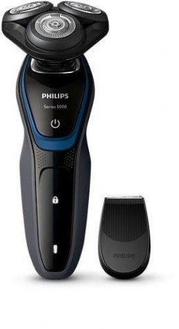 Philips Shaver for Men S5100/06 Rechargeable, Charging time 1 h, Lithium-ion, Battery life 0,7 h, Battery, Number of shaver head