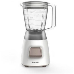 Biały Blender Philips Daily Collection HR2052 White, 350 W, Plastic, 1.25 L, Ice crushing,