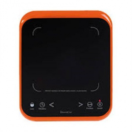DomoClip Induction hob DOC120 Number of burners/cooking zones 1, Glass ceramic, Control type Touch, Black/ red
