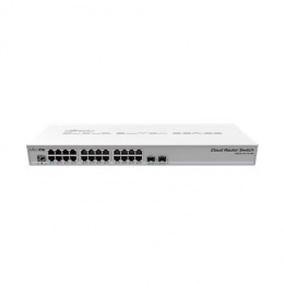 MikroTik Cloud Core Switch CRS326-24G-2S+RM Managed L3, Rack mountable, 1 Gbps (RJ-45) ports quantity 24, SFP+ ports quantity 2,