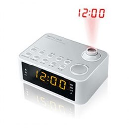 Muse Clock radio M-178PW Biały, 0.9 inch amber LED, with dimmer