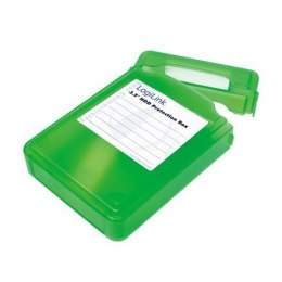 "Logilink UA0133G 3,5"" HDD protection box for 1 HDD, green"