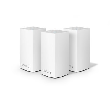 Linksys WHW0103-EU Velop Whole Home Intelligent Mesh WiFi System, Dual-Band, 3-pack 802.11ac, 400+867 Mbit/s, 10/100/1000 Mbit/s