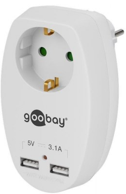 Goobay 40885 16 A safety socket with 2 USB ports