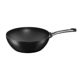 Pan TEFAL TalentPro Type WOK, 28 cm, Suitable for hob types All types, including induction, Black, Non-stick coating,