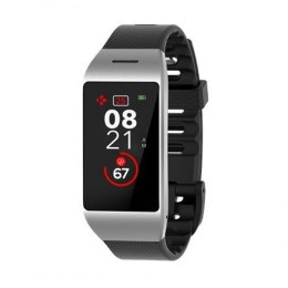 MyKronoz Smartwatch Zeneo Silver/ black, 220 mAh, Touchscreen, Bluetooth, Heart rate monitor, Waterproof, IP67 m