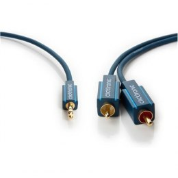 Clicktronic MP3 Adapter cable 70468 3.5 mm male (3-pin, stereo), 2 RCA male (audio left/right), 3 m