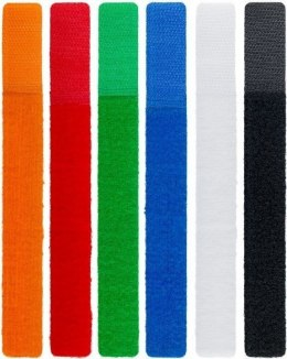 Goobay Cable management set with hook-and-loop fastener (17cm) 70350 blue, green, orange, red, black, white