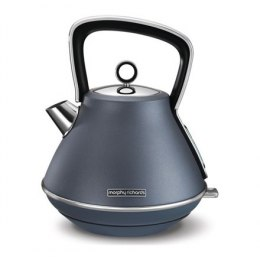 Czajnik elektryczny Morphy richards Kettle 100102 Standard, Stainless steel, Steel Blue, 3000 W, 360° rotational base, 1.5 L