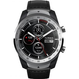 TicWatch Pro Liquid Smart watch, NFC, GPS (satellite), AMOLED, Touchscreen, Heart rate monitor, Activity monitoring 24/7, Waterp