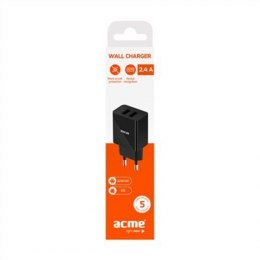 Acme CH204 2-ports USB Wall charger, AC 100-240 V, 2.4A
