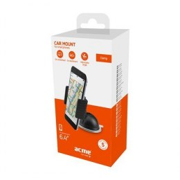 Acme PM2204 Black, Adjustable, 360 °, Clamp dash smarphone car mount, Installation: windshield/dashboard, Mount dimensions: 90 (