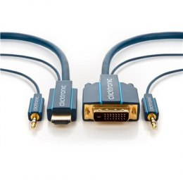 Clicktronic 70139 Casual HDMI/DVI and audio adapter cable, 3 m