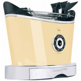 Toster Bugatti Volo Toaster 13-VOLOC Cream, Steel, 930 W, Number of slots 2, Number of power levels 6, Bun warmer included