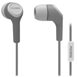 Słuchawki Koss Headphones KEB15iG In-ear, 3.5mm (1/8 inch), Microphone, Grey,