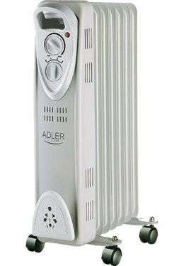 Adler AD 7807 Oil Filled Radiator, Number of power levels 2, 1500 W, Number of fins 7, White