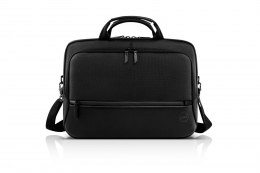 "Torba do Laptopa Dell Premier Briefcase Fits up to size 15 "", Black with metal logo, Shoulder strap, Briefcase"