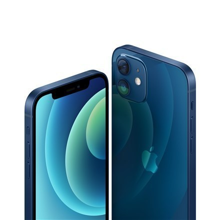 "Apple iPhone 12 Blue, 6.1 "", XDR OLED, 2532 x 1170 pixels, Hexa-core, Internal RAM 4 GB, 64 GB, Single SIM, Nano-SIM and eSIM, 3"