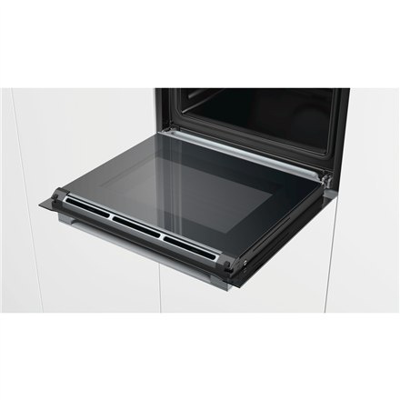 Bosch Serie 8 HRG675BS1S 71 L, Black, Stainless steel, Pyrolytic, Touch, Height 54.8 cm, Width 59.5 cm