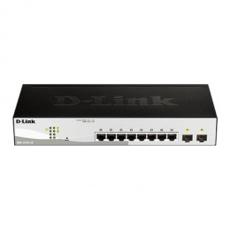 D-Link Switch DGS-1210-10 Web Management, Desktop, 1 Gbps (RJ-45) ports quantity 8, SFP ports quantity 2, Power supply type Sing