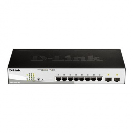 D-Link Switch DGS-1210-10P Managed L2, Rack Mountable, 1 Gbps (RJ-45) ports quantity 8, SFP+ ports quantity 2, Power supply type