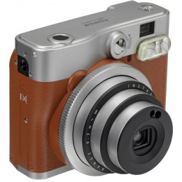 Fujifilm instax mini 90 NEO CLASSIC Instant camera + 10 pcs. of glossy, ISO 800, Focus 0.3m - ∞, Lithium-Ion (Li-Ion), Brown/Sta