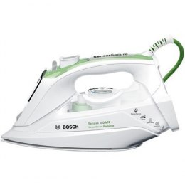 Iron Bosch TDA702421E Biały/Green, 2400 W, With cord, Continuous steam 45 g/min, Steam boost performance 200 g/min, Anti-drip fu