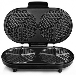 Waffle maker Tristar WF-2120 Black/Grey, 1200 W, Heart shape, Number of waffles 10