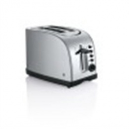 WMF STELIO Toaster 414010012 Stainless steel, Stainless steel, 980 W, Number of slots 2, Number of power levels 7, Bun warmer in
