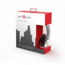 "Gembird Stereo headset, ""Los Angeles"" + microphone, passive noise canceling Black, 3.5 mm"