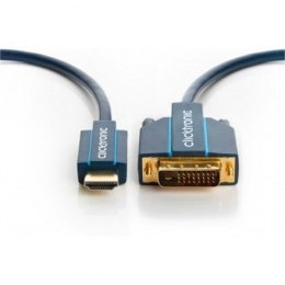 Clicktronic 70343 HDMI™ / DVI adapter cable, 5m