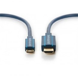 Clicktronic 70322 Mini-HDMI™ adapter cable with Ethernet, 2m