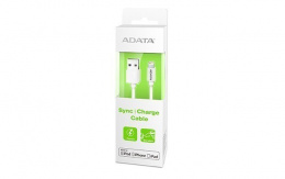 ADATA Sync and Charging Cable, USB A, Lightning, 1 m, Biały