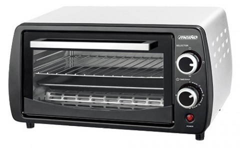 Mesko Electric oven MS 6004 12 L, Black/ grey, 1000 W