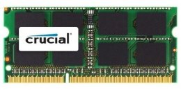 Crucial 4 GB, DDR3, 204-pin SO-DIMM, 1600 MHz, Memory voltage 1.35 V, ECC No