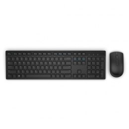 Dell KM636 Standard, Wireless, Klawiatura layout EN, Black, Mysz included, US International, Numeric keypad